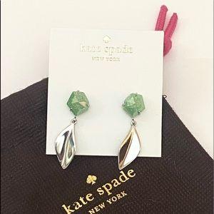 Kate spade leaf earrings